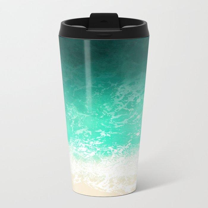 Sea texture Metal Travel Mug