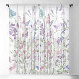 vintage wildflowers arrangement 2020 Sheer Curtain