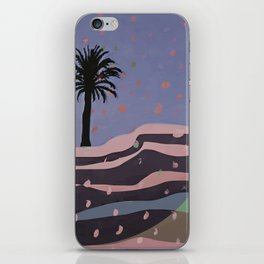 Autumnal Air around the Palm Tree iPhone Skin