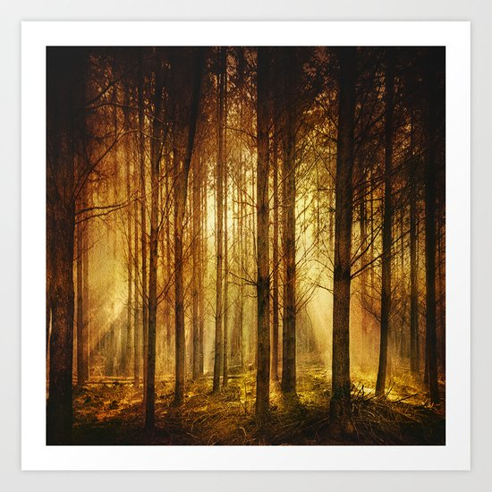 Golden Nature. Art Print