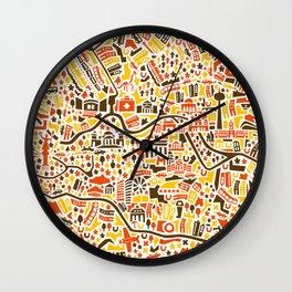 Berlin City Map Poster Wall Clock