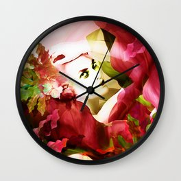 """Exotic Woman Tropical Jungle"" Wall Clock"