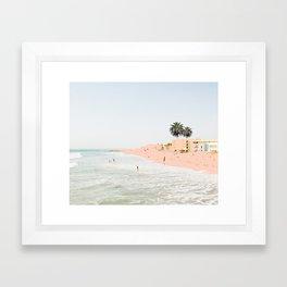Pink Beach #society6 #decor #buyart Framed Art Print