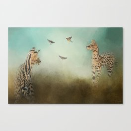 Watching the Waxwings Canvas Print