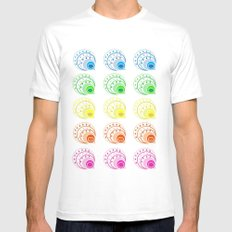 Peacock White MEDIUM Mens Fitted Tee
