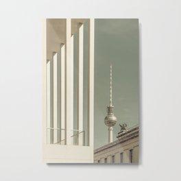 BERLIN Television Tower & Museum Island | urban vintage style Metal Print