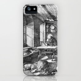 Saint Jerome in His Study by Albrecht Dürer iPhone Case