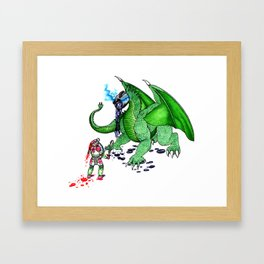 Tea Slayer Framed Art Print