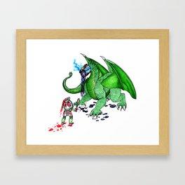 Tea Slayer Framed Art Print