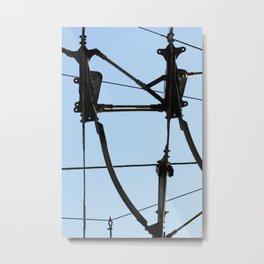 electric Metal Print