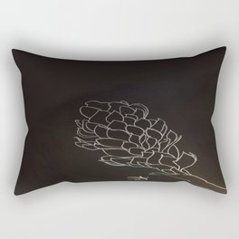 Black and White Alpinia purpurata – Red Ginger Flower, Bogota, Colombia Rectangular Pillow