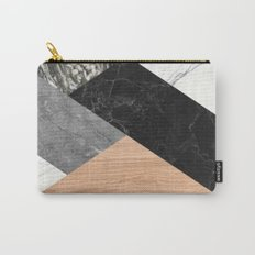 Marble and Wood Abstract Carry-All Pouch