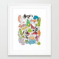 nori Framed Art Prints featuring Sushi Bar: Point of Nori-turn by ieIndigoEast
