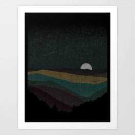 Moonrise (Color) Art Print