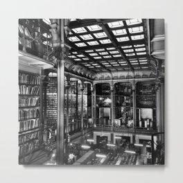 A Book Lover's Dream - Cast-iron Book Alcoves of Old Cincinnati Public Library No. 4 photograph Metal Print