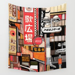 Tokyo Street Signs Wall Tapestry