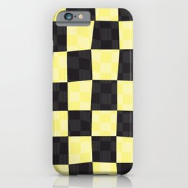 Wax Print Checkerboard - Gold iPhone Case