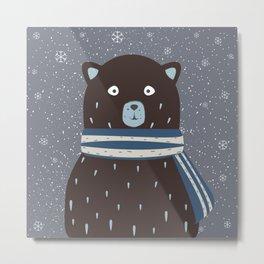 Amused Bear Metal Print
