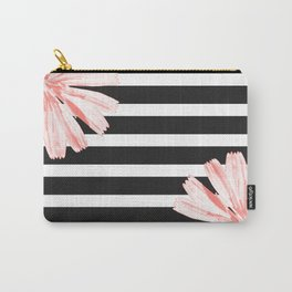 Cichoriums on stripes Carry-All Pouch