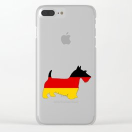 German Flag - Scottish terrier Clear iPhone Case