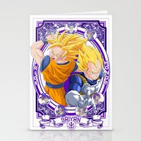 dragonball Stationery Cards featuring DragonBall Z - Saiyan House by Art of Mike