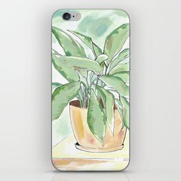 Little Blue Plant iPhone Skin