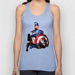 Polygon Heroes - Captain America Unisex Tank Top
