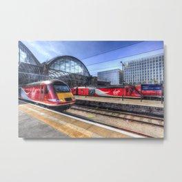 Kings Cross London Trains Metal Print