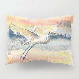 Egret-Flying in The Dawn Pillow Sham
