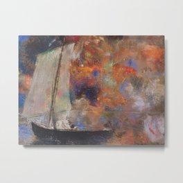 Odilon Redon - Flower Clouds Metal Print