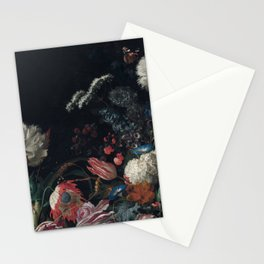 Dutch dark Dramatic Floral arrangement Stationery Cards