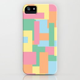 Pastel Colorful Blocks iPhone Case