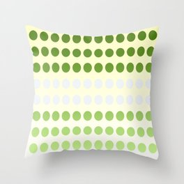 Dots in a Row in Olive and Cream Throw Pillow