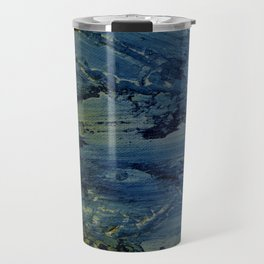 Blue strokes manipulated Travel Mug