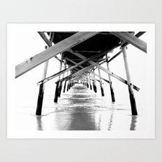 Sunset Beach Pier Art Print