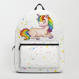 Sleeping Rainbow Unicorn Backpack