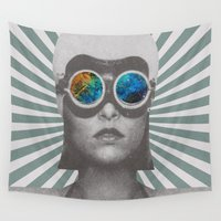 winter soldier Wall Tapestries featuring Space Soldier by Serra Kiziltas