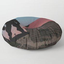 When Giants Roamed the Earth Floor Pillow