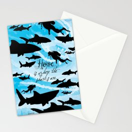 Home is where the sharks are! Stationery Cards