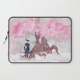 Tengami - Winter Cherry Tree (Portrait) Laptop Sleeve