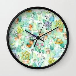 Birds in the Garden Wall Clock