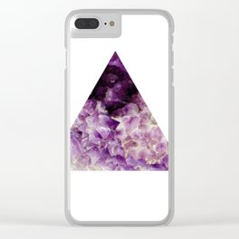 amethyst triangle Clear iPhone Case