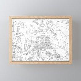 Picasso Line Art - Guernica Framed Mini Art Print