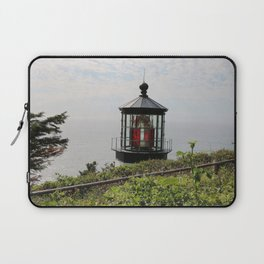The Red Beacon On Tillamock Bay Laptop Sleeve