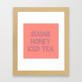 Say Something Sweet Framed Art Print