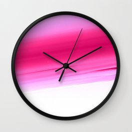 Pink White Smooth Ombre Wall Clock