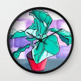Fiddle leaf Wall Clock