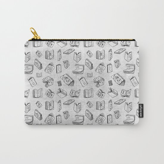 Classics - Book Pattern (White) Carry-All Pouch