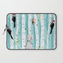 WEIMARANER AND WOODPECKERS Laptop Sleeve