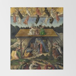 "Sandro Botticelli ""The Mystical Nativity"" Throw Blanket"